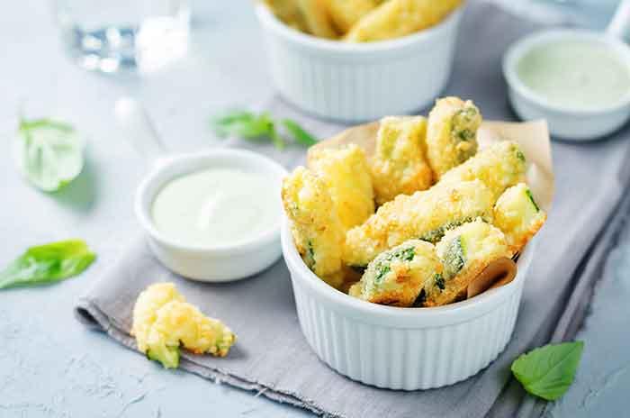 como hacer calabacin en tempura