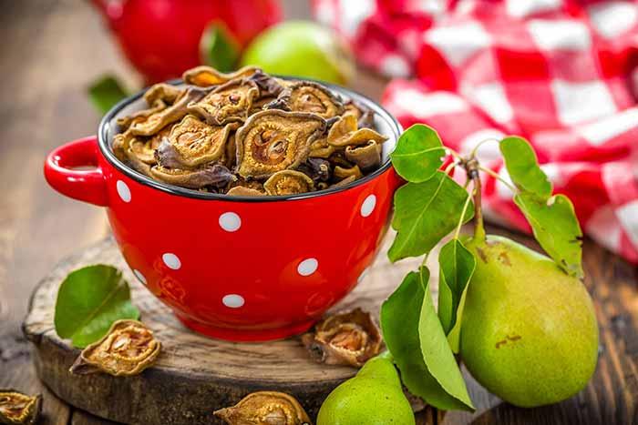 receta de peras deshidratadas por nutricienta