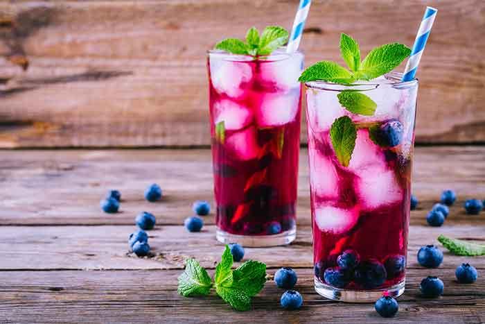 receta de zumo de arandanos