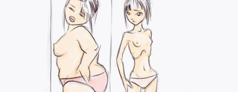 Anorexia y espejo