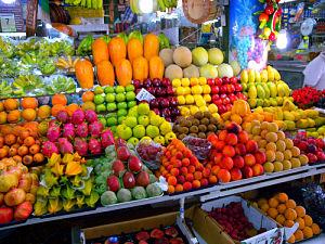 Imagen de frutas en Mercado