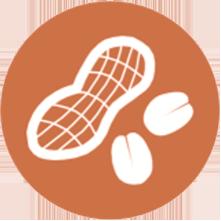 icono del alergeno de los cacahuetes