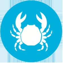 icono del alergeno de los crustaceos