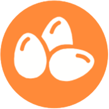 icono del alergeno de los huevos