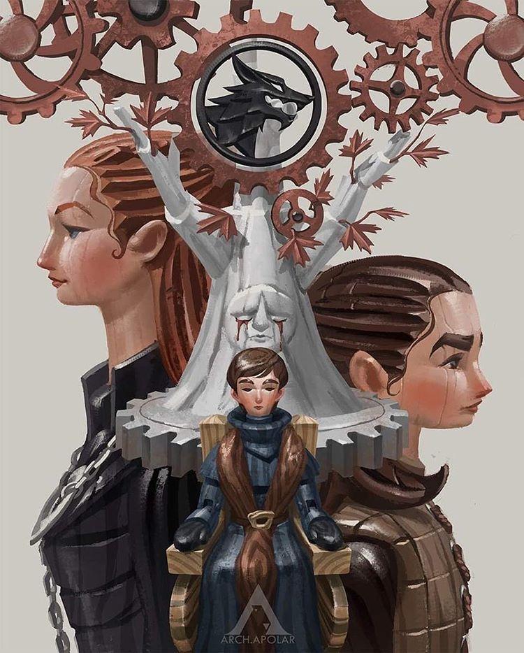Im?gen de la casa Stark de Juego de Tronos
