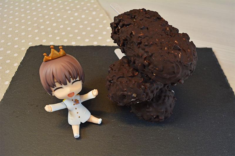 Helado saludable almendrado de chocolate y pl?tano
