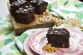 Brownie de chocolate y garbanzos