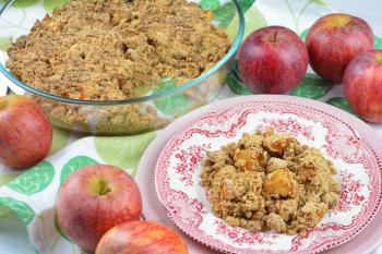 Crumble de manzana saludable