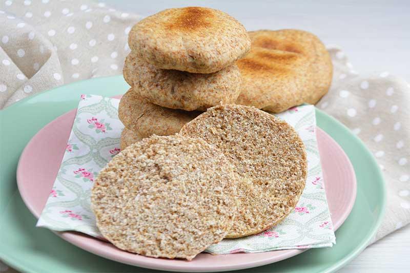 bollitos de pan integral sin horno