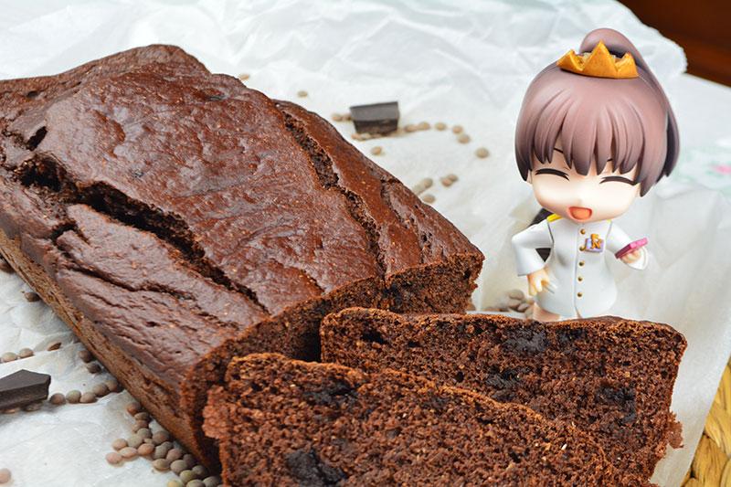 Delicioso y nutritivo bizcocho de chocolate con lentejas por nutricienta