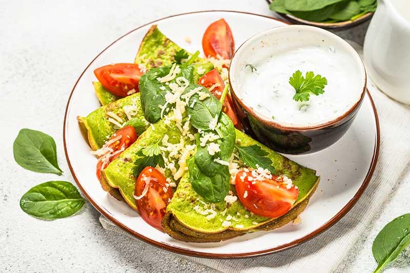 receta de crepes de espinacas y avena 2