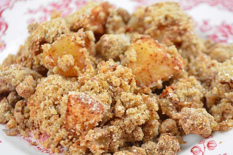 receta de apple crumble o crumble de manzana