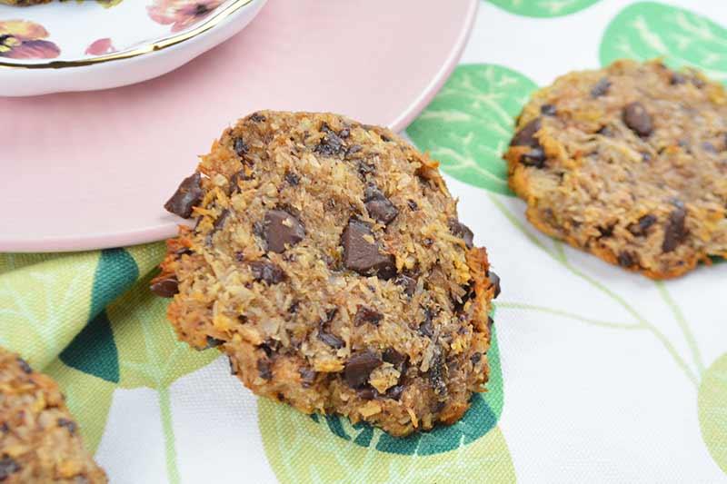 galletas de coco y chocolate sin harina, sin huevos, sin azucar, sin leche