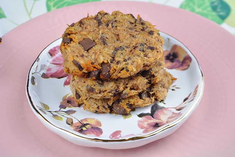 galletas de coco y chocolate sin harina, sin huevos, sin azucar, sin leche 1