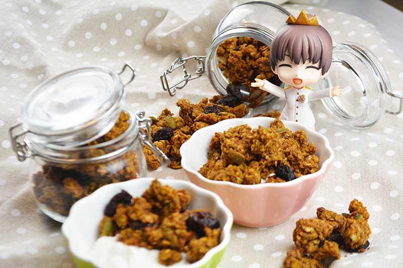 receta de granola de avena y calabaza sin az?car por nutricienta