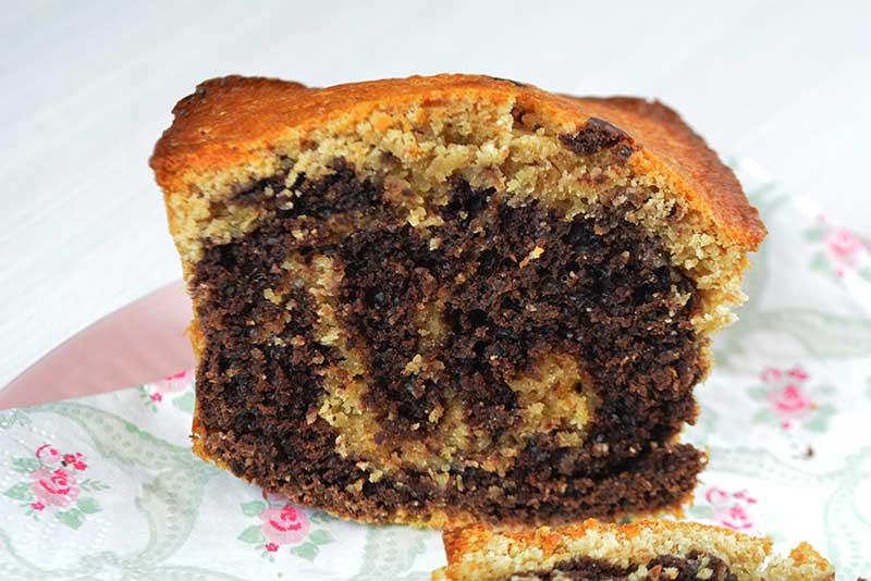 receta de bizcocho marmolado saludable sin azucar