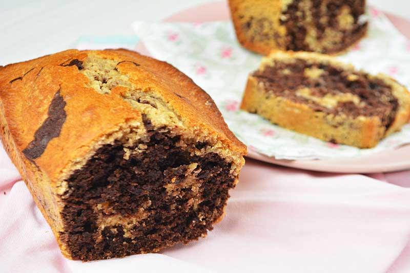 receta de bizcocho marmolado saludable sin azucar 1