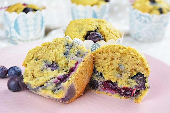 receta de muffins de arandanos saludables sin azucar