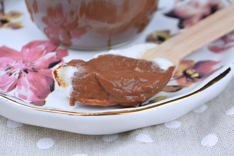 receta de natillas de chocolate sin lactosa y sin huevos