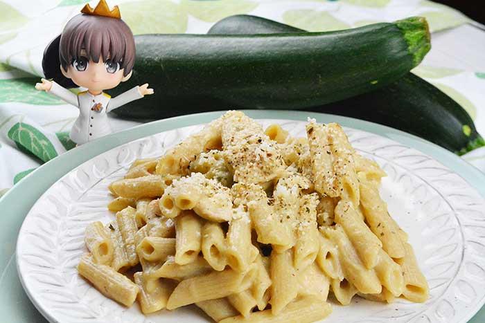 pasta con pollo y bechamel de calabacin sin harina 2