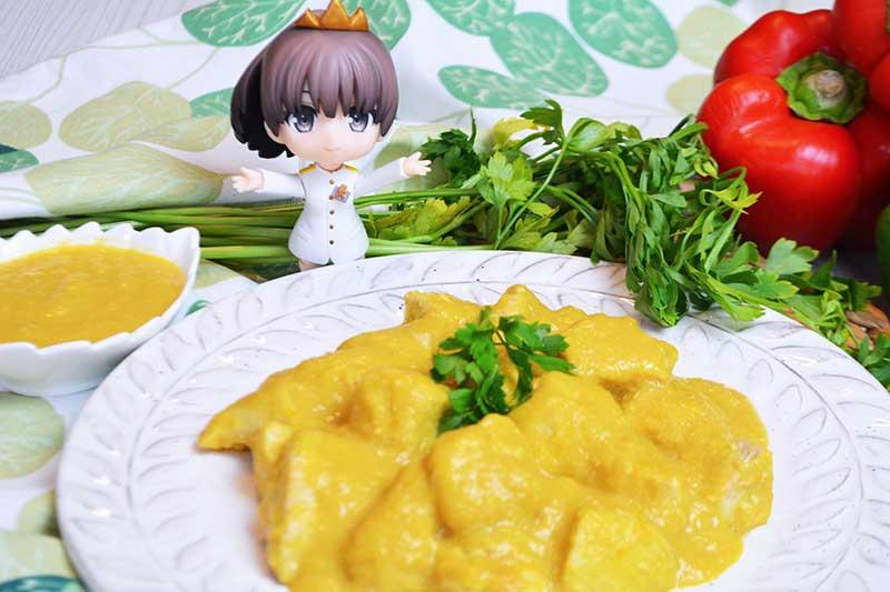 receta de pollo en salsa cremosa de pimientos 2