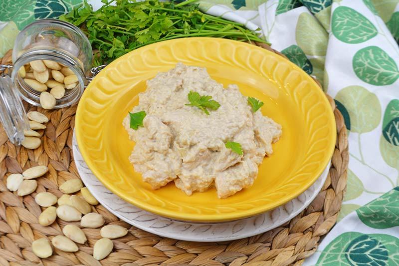 receta de pollo en salsa de almendras 1