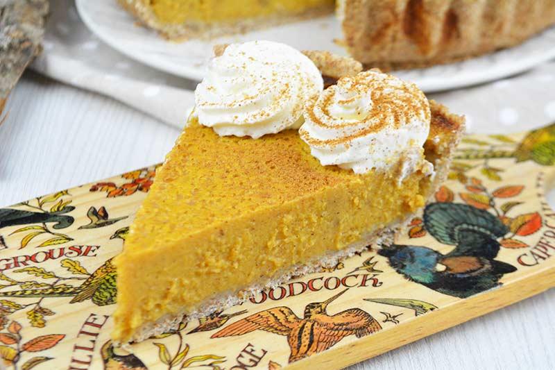 receta de pumpkin pie sin azucar