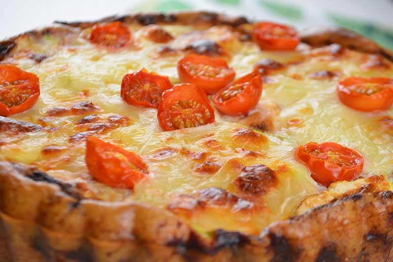 quiche de calabac?n, queso parmesano y mozzarella por nutricienta