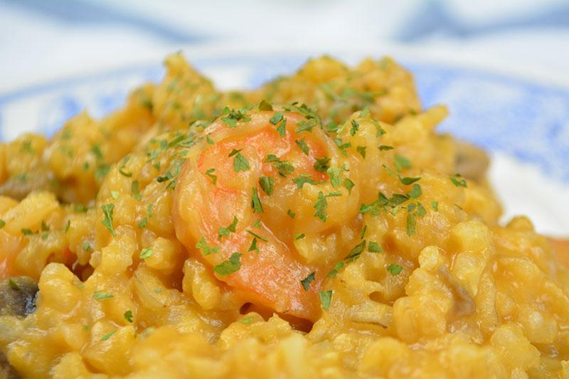 receta de un delicioso y f?cil risotto de gambas y champi?ones por nutricienta