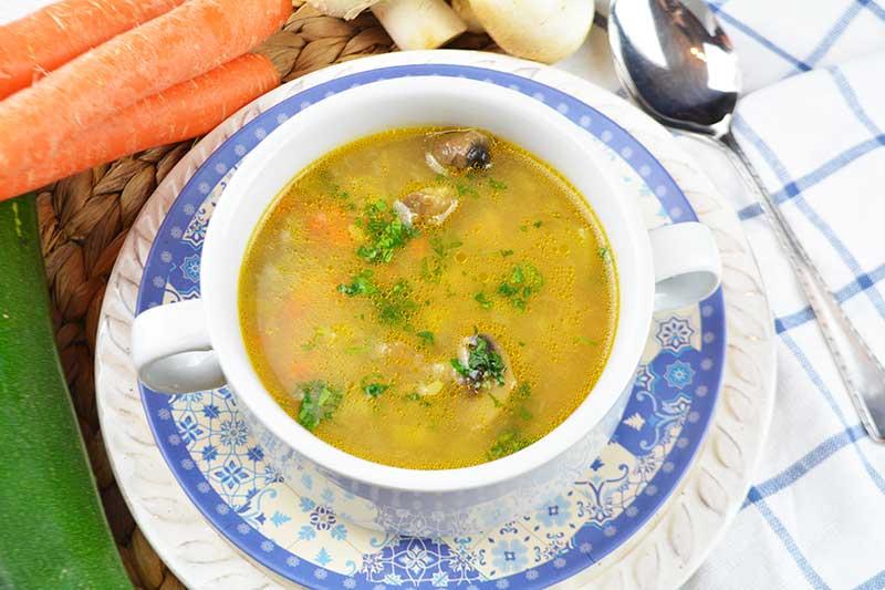 receta de sopa de verdura y garbanzos 1