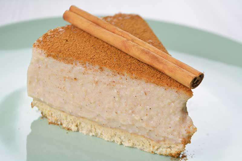 receta de tarta de arroz con leche sin azucar y sin horno