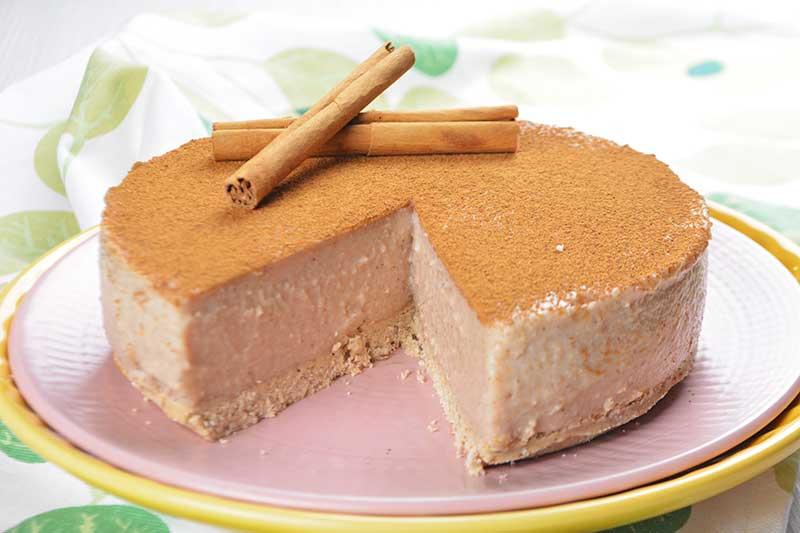 receta de tarta de arroz con leche sin azucar y sin horno 1
