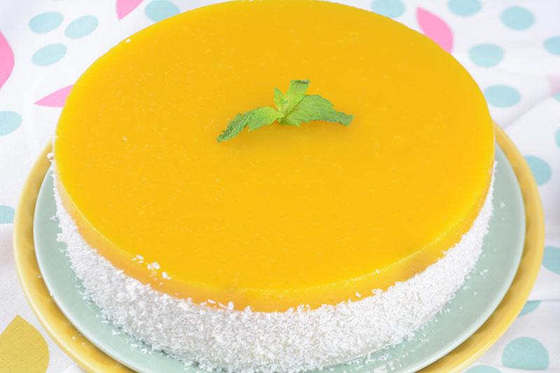 Deliciosa y f?cil tarta de mango y coco por nutricienta