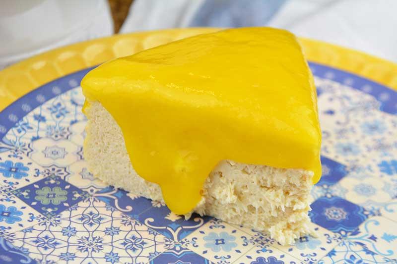 receta de cheesecake de queso y mango sin azucar