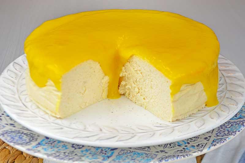 receta de cheesecake de queso y mango sin azucar 1