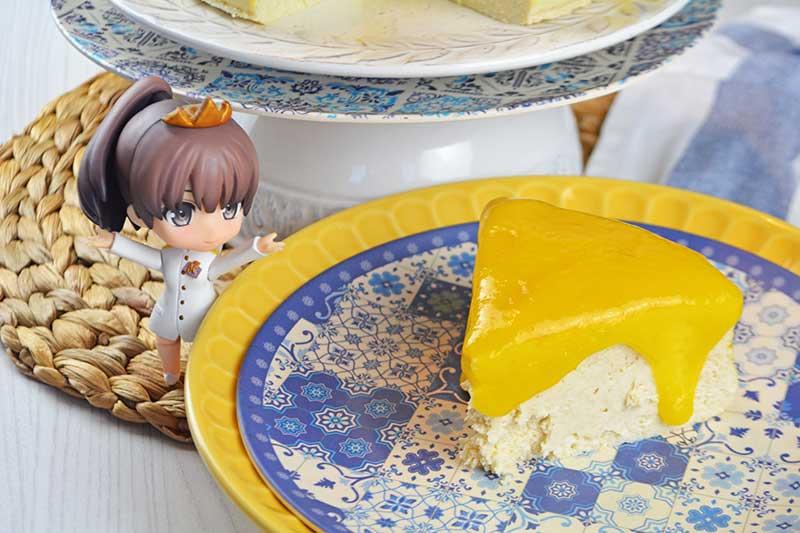 receta de cheesecake de queso y mango sin azucar 2